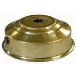 Applique con fondello in ferro nichelato
