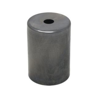 Bicchierino cilindrico in ferro per portalampada E27