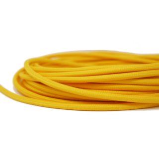 Cavo tessile giallo