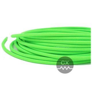 Cavo tessile verde fluo