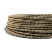 Cavo tessile zig-zag bronzo nero