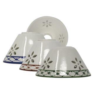Cono traforato ceramica Bassano Decoro82 diametro 13cm