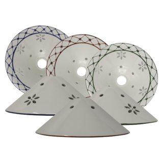Cono traforato in ceramica di Bassano Decoro82 diametro 28 cm