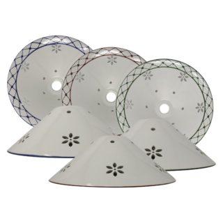 Cono traforato in ceramica di Bassano Decoro82 diametro 36 cm