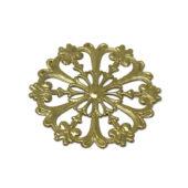 Filigrana in ottone decorato 52 mm
