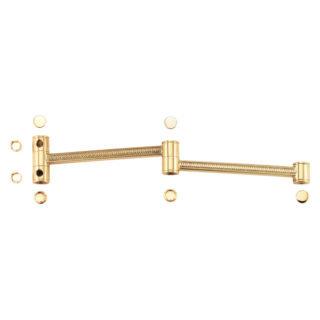 Braccio con doppio snodo in ottone lucido Ghidini K.5031 - K.6031