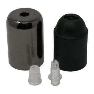 Kit bicchierino cromato nero
