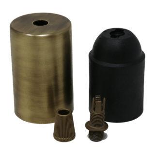 Kit bicchierino bronzato cilindrico
