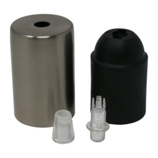 Kit bicchierino nichel satinato cilindrico