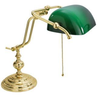 Lampada ministeriale doppio braccio in ottone large