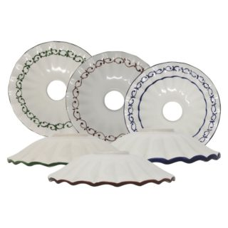 Piatto ondulato in ceramica di Bassano Decoro79 diametro 20 cm