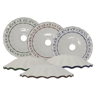Piatto ondulato in ceramica di Bassano Decoro79 diametro 26 cm