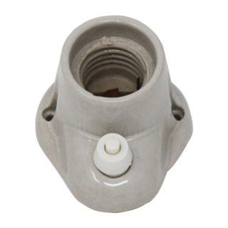 Punto luce in porcellana E27 inclinato con interruttore