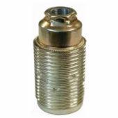 Portalampada con corpo filettato in metallo E14