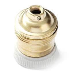 Portalampada in metallo ottonato E14