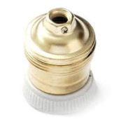 Portalampada in metallo ottonato E27