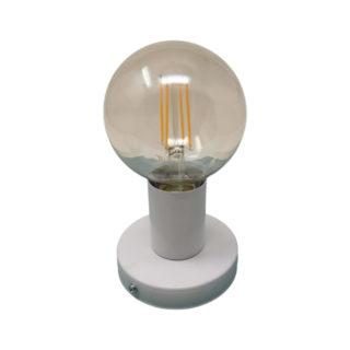 Punto luce in metallo bianco