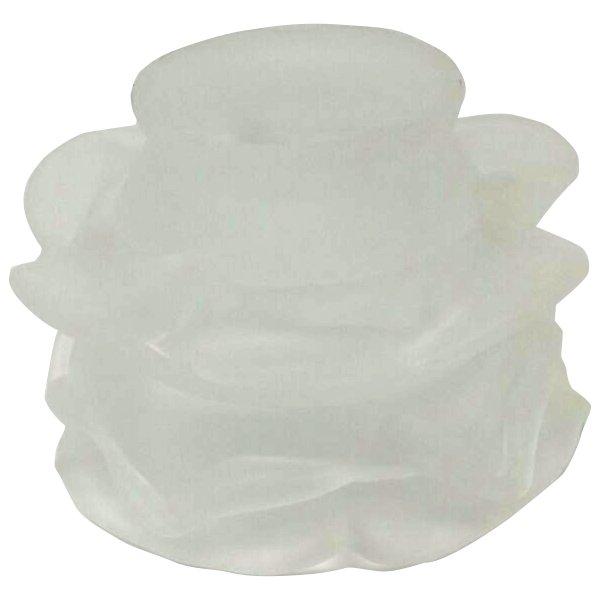 Tazzina in vetro a tre file di petali satinata