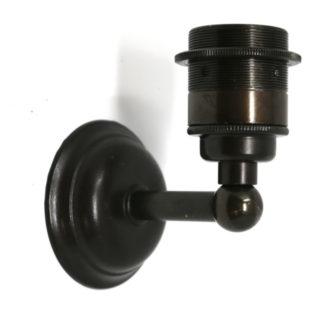 Applique a L in ottone brunito stile industrial