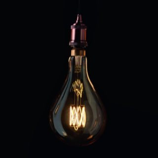 lampadina LED vintage Gocciolo XL