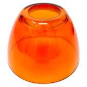 Tazzina in vetro ambrata